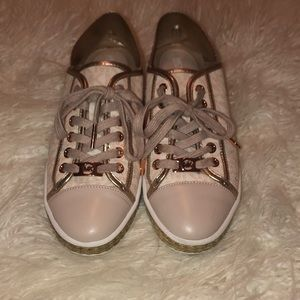 Micheal Kors Rose Gold Sneakers